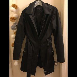 Black Trench Rain Jacket